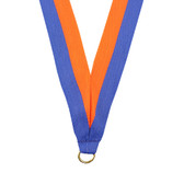 Blue and Orange Medal Neck Ribbon - Priced Each Starting at 12
