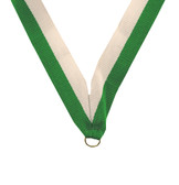 Green and White Medal Neck Ribbon - Priced Each Starting at 12