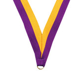 Purple and Gold Medal Neck Ribbon - Priced Each Starting at 12