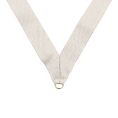 White Medal Neck Ribbon - Priced Each Starting at 12