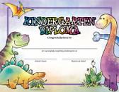 Dinosaurs Kindergarten Diploma from Cool School Studios.