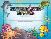 Sea Creatures Kindergarten Diploma from Cool School Studios.