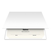Shown is blank diploma certificate cover in solar white (Cool School Studios 01308).