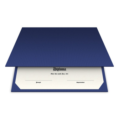 Shown is blank diploma certificate cover in patriot blue (Cool School Studios 01310).