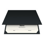 Shown is blank diploma certificate cover in epic black (Cool School Studios 01312).