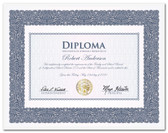 Style 1. The title, border and background are printed in blue and full color with gold foil seal.