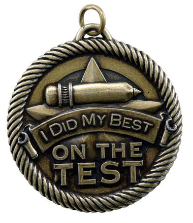 0980 I Did My Best on the Test Value Medal from Cool School Studios.