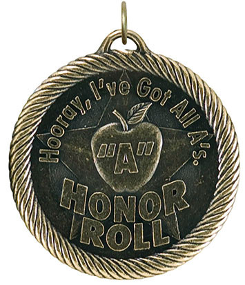 0982 Apple A Honor Roll Value Medal from Cool School Studios.