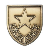 Excellence - Die-Struck 100, 400 & 500 Medal Inserts - Priced Each Starting at 12