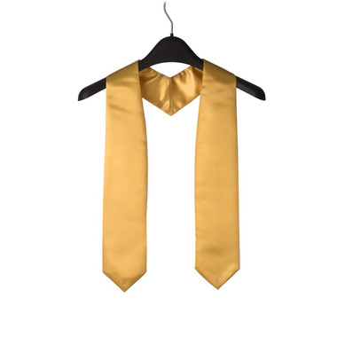 Shown is gold child stole (Cool School Studios 0917), front view.