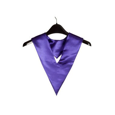 Shown is purple child v-stole (Cool School Studios 0904), front view.