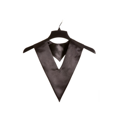 Shown is black child v-stole (Cool School Studios 0905), front view.