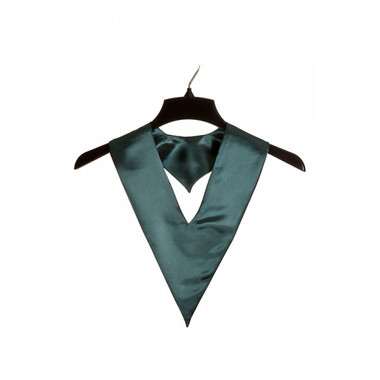 Shown is forest green child v-stole (Cool School Studios 0910), front view.