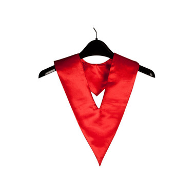 Shown is red child v-stole (Cool School Studios 0914), front view.