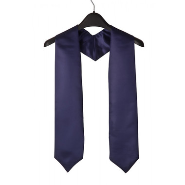 Shown is navy blue child stole (Cool School Studios 0923), front view.
