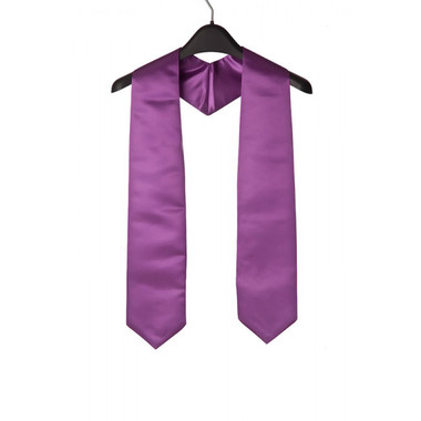 Shown is purple child stole (Cool School Studios 0924), front view.