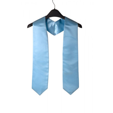 Shown is sky blue child stole (Cool School Studios 0926), front view.
