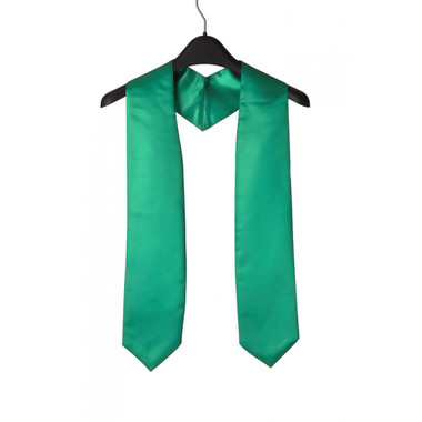 Shown is emerald green child stole (Cool School Studios 0929), front view.