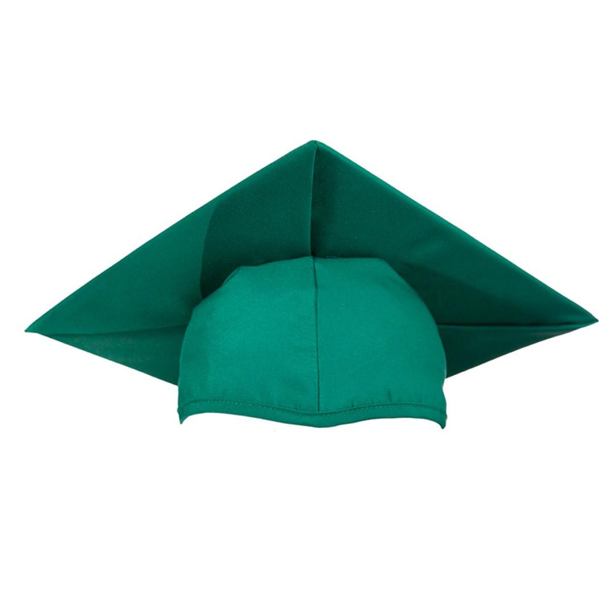Child Matte Emerald Green Cap Gown Tassel Cool School Studios