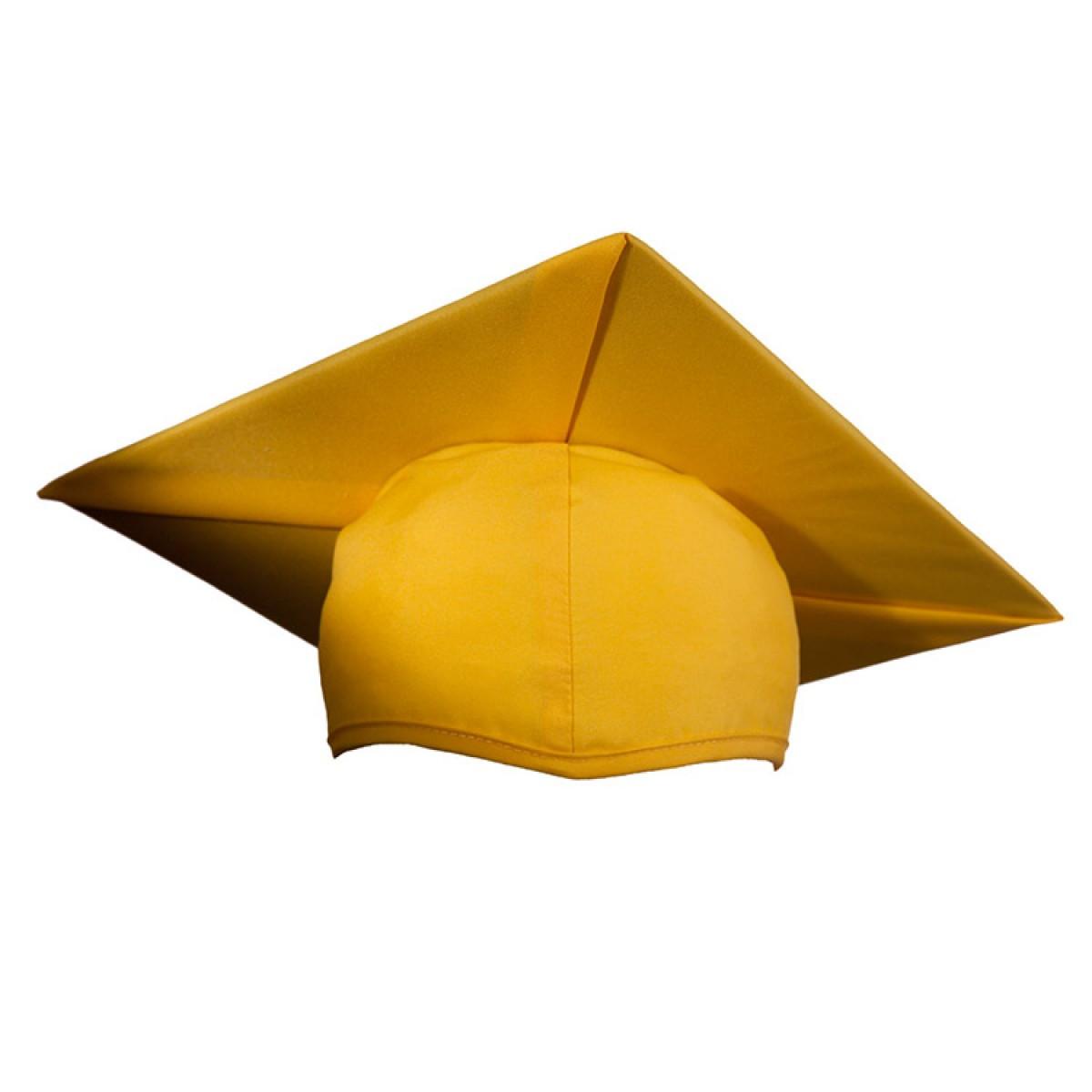 Child Matte Gold Cap Gown Tassel Cool School Studios