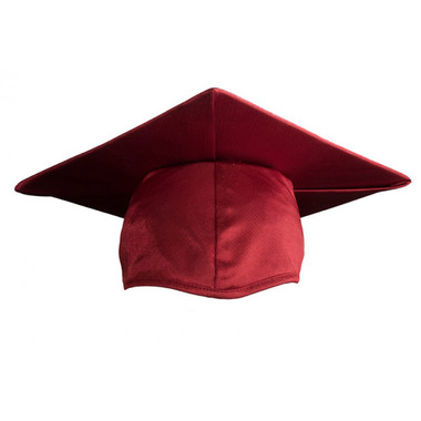 Shown is child shiny maroon cap (Cool School Studios 0505), front view.