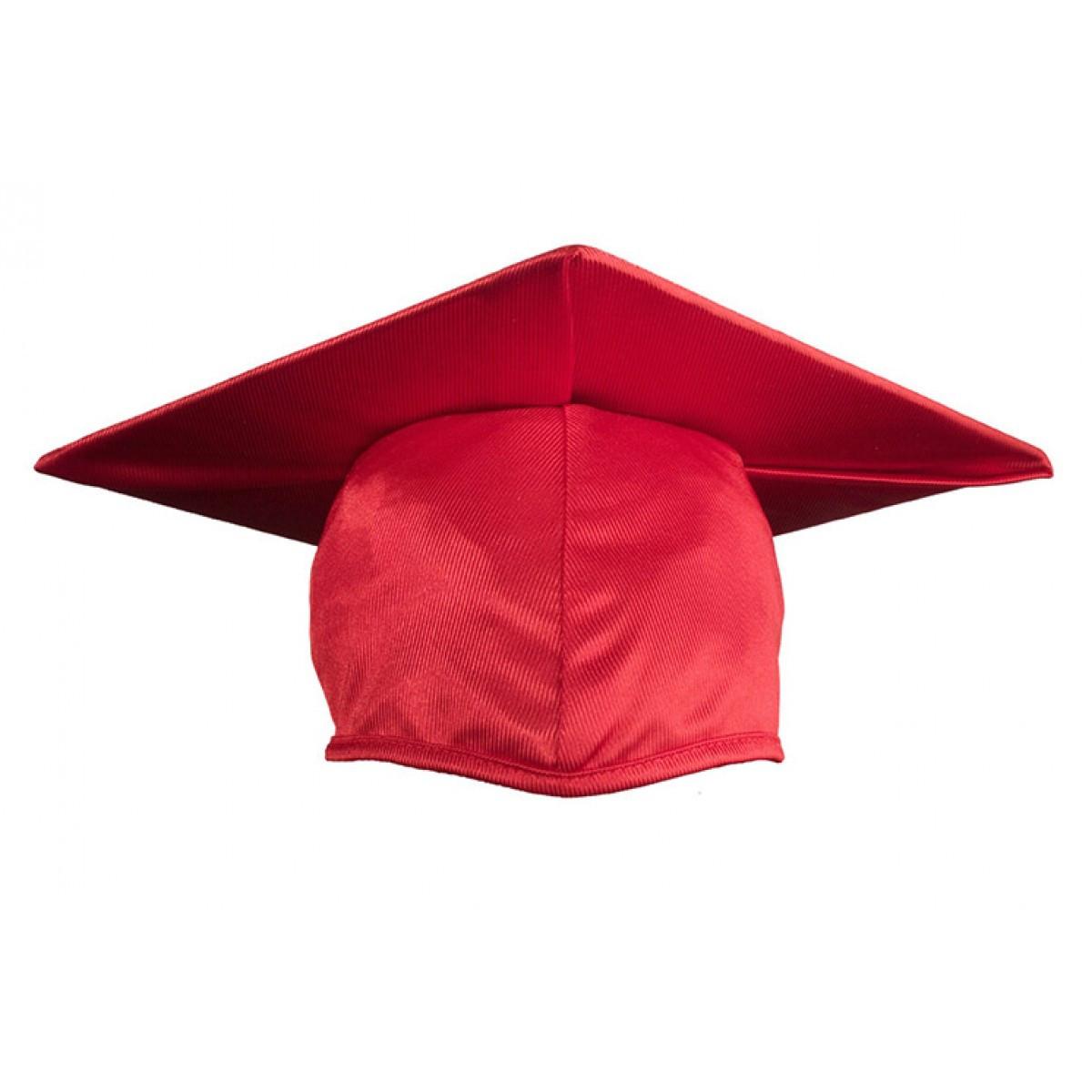 Child Shiny Red Cap, Gown & Tassel - Cool School Studios