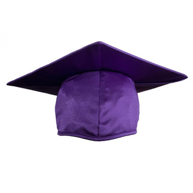 Shown is child shiny purple cap (Cool School Studios 0506), front view.