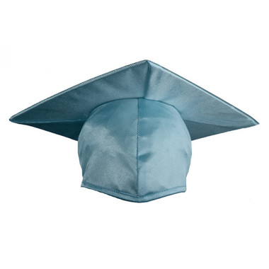 Shown is child shiny sky blue cap (Cool School Studios 0511), front view.