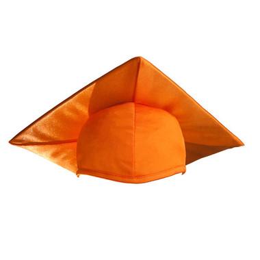 Shown is child shiny orange cap (Cool School Studios 0513), front view.