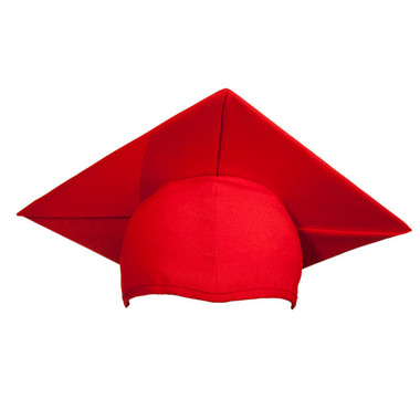 Shown is child matte red cap (Cool School Studios 0519), front view.