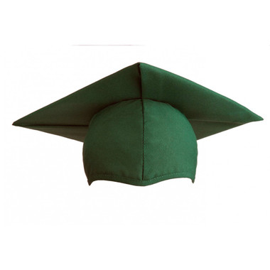 Shown is child matte forest green cap (Cool School Studios 0520), front view.