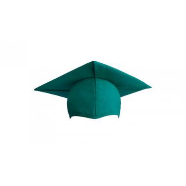 Shown is child matte emerald green cap (Cool School Studios 0521), front view.