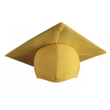 Shown is child matte gold cap (Cool School Studios 0522), front view.