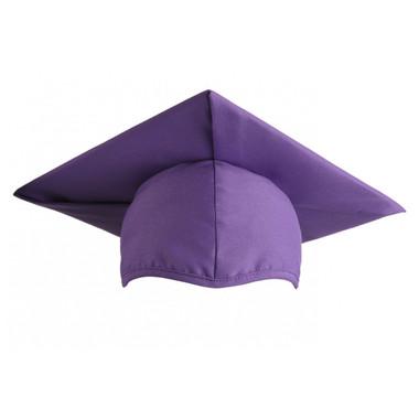 Shown is child matte purple cap (Cool School Studios 0524), front view.