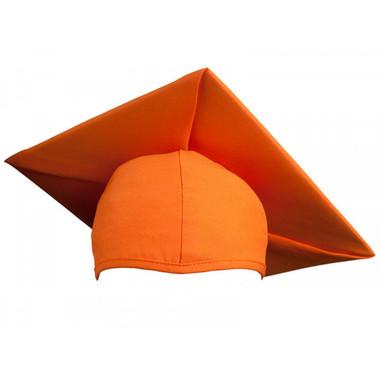 Shown is child matte orange cap (Cool School Studios 0525), front view.
