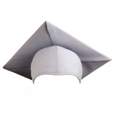 Shown is child matte silver cap (Cool School Studios 0526), front view.