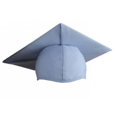 Shown is child matte sky blue cap (Cool School Studios 0528), front view.