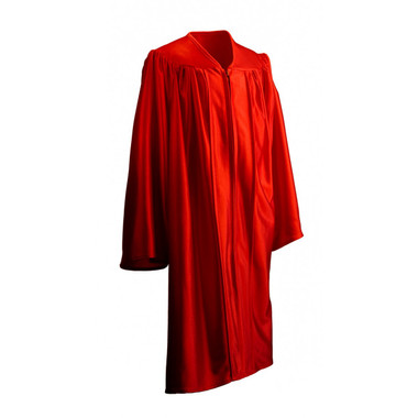 Shown is child shiny red gown (Cool School Studios 0415), full view.