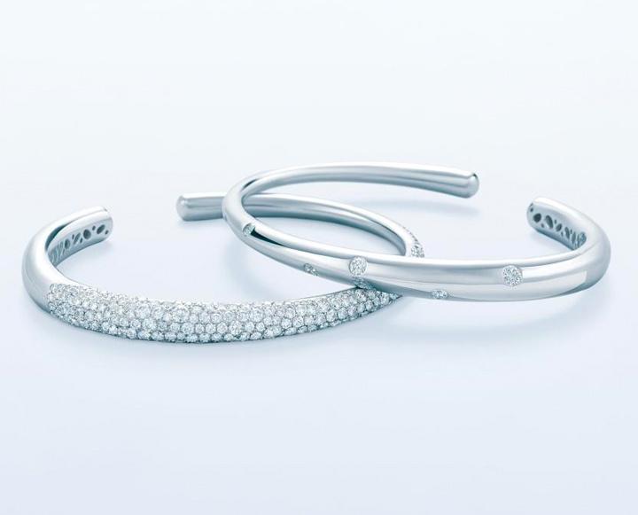 Kwiat Diamond Bracelet Bangle Cuff in Cobblestone Collection