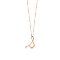 Kwiat Diamond Initial Pendant in 18k rose gold