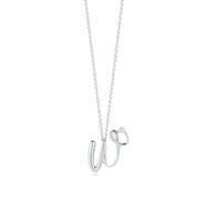 Kwiat Diamond Initial Pendant in 18k white gold