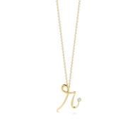 Kwiat Diamond Initial Pendant Pendant in 18k yellow gold