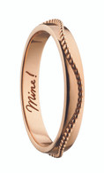 """Monica Rich Kosann """"MINE"""" BEADED POESY RING NECKLACE in Rose Gold"""