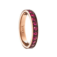 """Monica Rich Kosann """"LUCK"""" POESY RING NECKLACE in Rose Gold"""