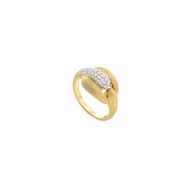 Marco Bicego Lucia 18k hand engraved yellow gold and diamond ring  SKU AB599BYW