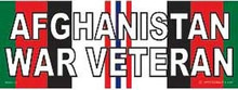 Bumper Sticker-Afghanistan War Veteran