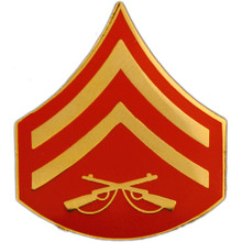 "Pin - USMC Rank, E4 Corporal (clr) (7/8"" wide)"