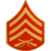 "Pin - USMC Rank, E5 Sgt (clr) (7/8"" wide)"