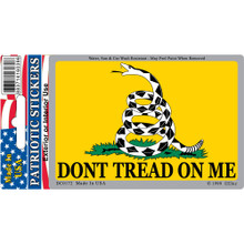 Bumper Sticker - Don't Tread On Me (Yellow)