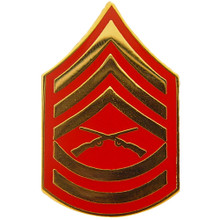 "Pin - USMC Rank E7 Gunnery Sgt (clr) (3/4"" Wide)"